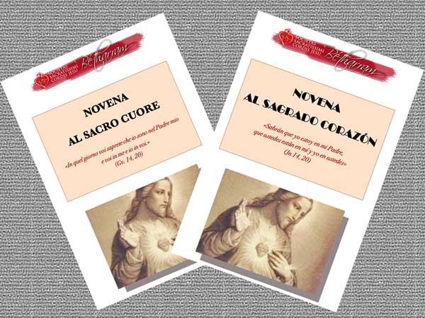 Neuvaine pour la solennité du Sacré-Cœur en Italien et Espagnol